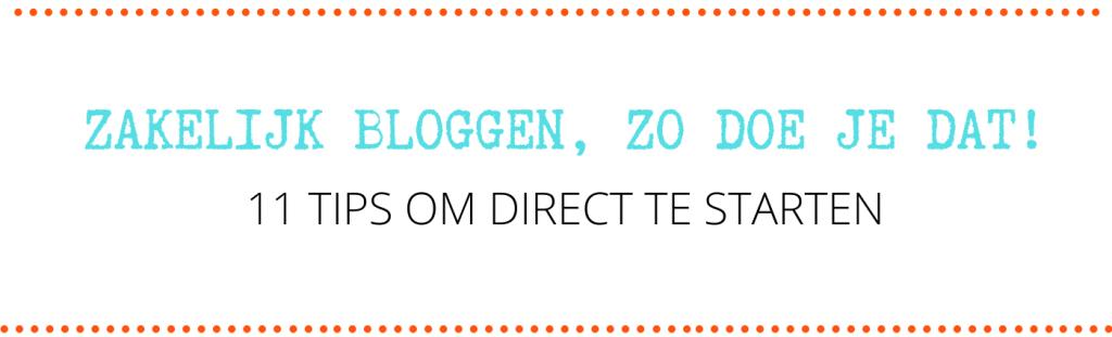 zakelijk bloggen zo doe je dat